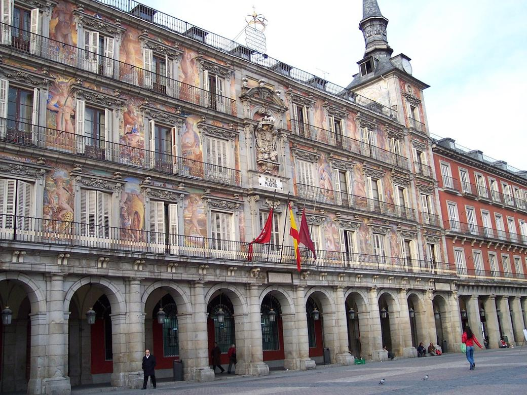 The Plaza Mayor Square in Madrid, Spain