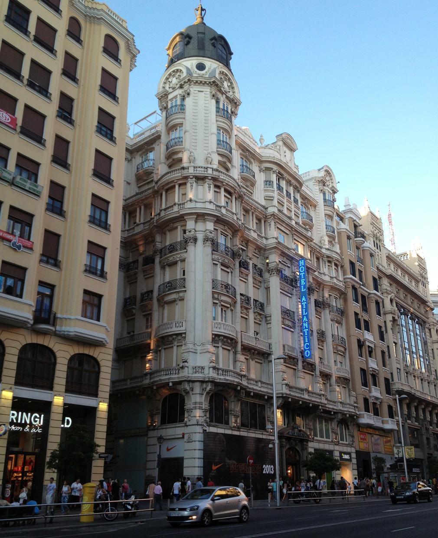 The Gran Vía Avenue in Madrid, Spain