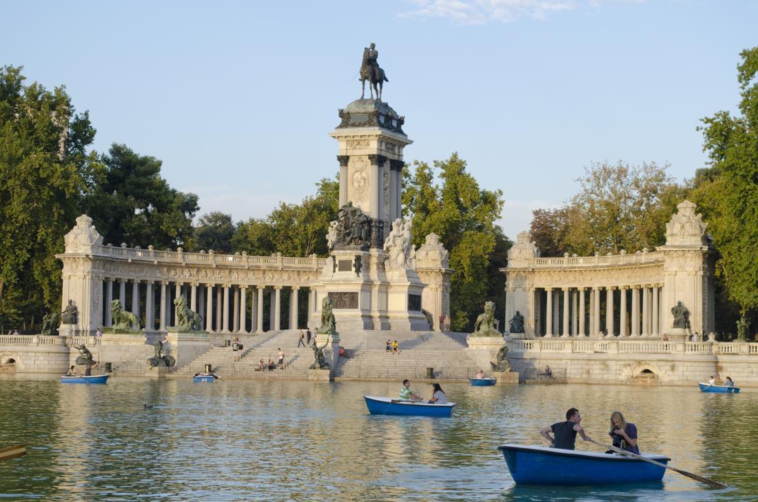 The Retiro Park in Madrid, Spain