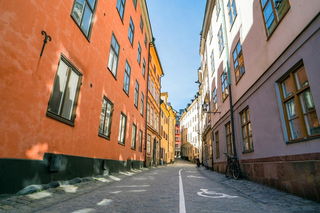 Street in Stockholm city.